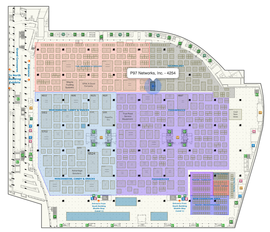 P97 Networks NACS Booth Location